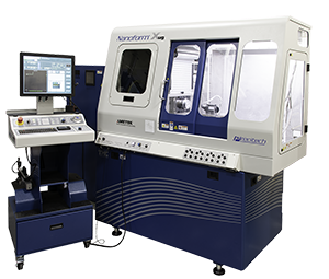 Nanoform Xug flood coolant ultra precision lathe